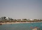 Фото туриста. вид на пляж и отель