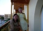 Фото туриста. на балконе