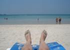 Фото туриста. пляж возле отеля