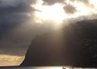 Фото туриста. закат на Мадейре