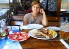 Фото туриста. в ресторане