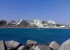 Фото туриста. Вид на отель с моря
