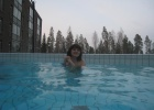 Фото туриста. Открытый бассейн с переходом в сам аквапарк