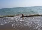 Фото туриста. Купание в мартовском море