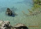 Фото туриста. глубина не ощущается сверху. на самом деле у того камня по шею...