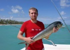 Фото туриста. Эту рыбку поймал мой муж на рыбалке в атлантике(дорадо)