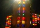 Фото туриста. отель в ночи