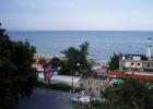 Фото туриста. Пляж, море. Вид с балкона гостиницы.