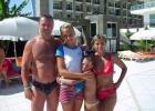 Фото туриста. Мы семьёй и аниматор Лена!!!!