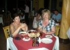 Фото туриста. Ужин в итальянском ресторане.