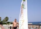 Фото туриста. флаг отеля