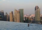 Фото туриста. вид с бассейна на 57 этаже