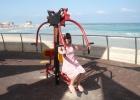 Фото туриста. Тренажёры на пляже