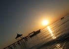 Фото туриста. Рассвет над морем.