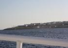 Фото туриста. отель виден с яхты