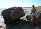 Фото туриста. Это то самое местечко на пляже слева от отеля (если смотреть на него лицом)
