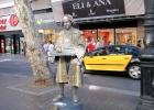 Фото туриста. Мим на бульваре Лас Рамблас