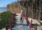 Фото туриста. дорога к пляжу