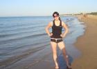 Фото туриста. утренняя пробежка, вода +28