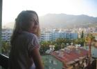 Фото туриста. вид с балкона на Аланью