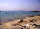 Фото туриста. вид сверху на берег Хаммамета