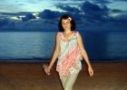 Фото туриста. Пляж вечером. Джимбаран