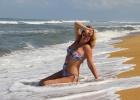 Фото туриста. на пляже у отеля