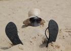 Фото туриста. Пляжное развлечение
