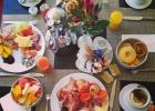 Фото туриста. вкусные завтраки