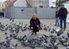 Фото туриста. и голубей