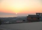 Фото туриста. закат вид из отеля