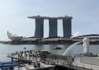 Фото туриста. Вид из отеля Swissotel с 28 этажа на Marina Bay sands