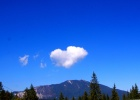 Фото туриста. облако похоже на сердечко