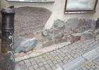 Фото туриста. Стокгольм: улица Prästgatan, фрагмент рунического письма...