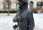 Фото туриста. Площадь Геллерта. Памятник венгерскому композитору, певцу и актёру Тамашу Чеху.