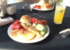 Фото туриста. завтрак