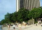 Фото туриста. Вид с пляжа на отель Reef Guam