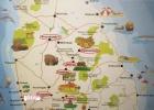 Фото туриста. Карта Шри-Ланки с ее достопримечательностями.