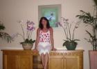 Фото туриста. в орхидеях фойе
