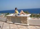 Фото туриста. это вид с балкона