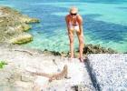 Фото туриста. на острове игуан