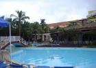 Фото туриста. вид на бассейн в отеле