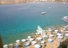 Фото туриста. песчаный пляж в бухте Шарма