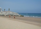 Фото туриста. Пляж, полоса отлива