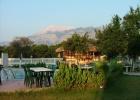 Фото туриста. утро вид на бассейн