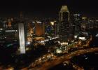 Фото туриста. Ночной Сингапур-колесо обозрения