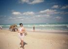 Фото туриста. на пляже отеля