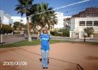 Фото туриста. волейбольная площадка в отеле