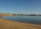 Фото туриста. вид на залив с морской водой