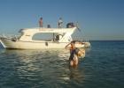 Фото туриста. лодка Аладина, выход в море.